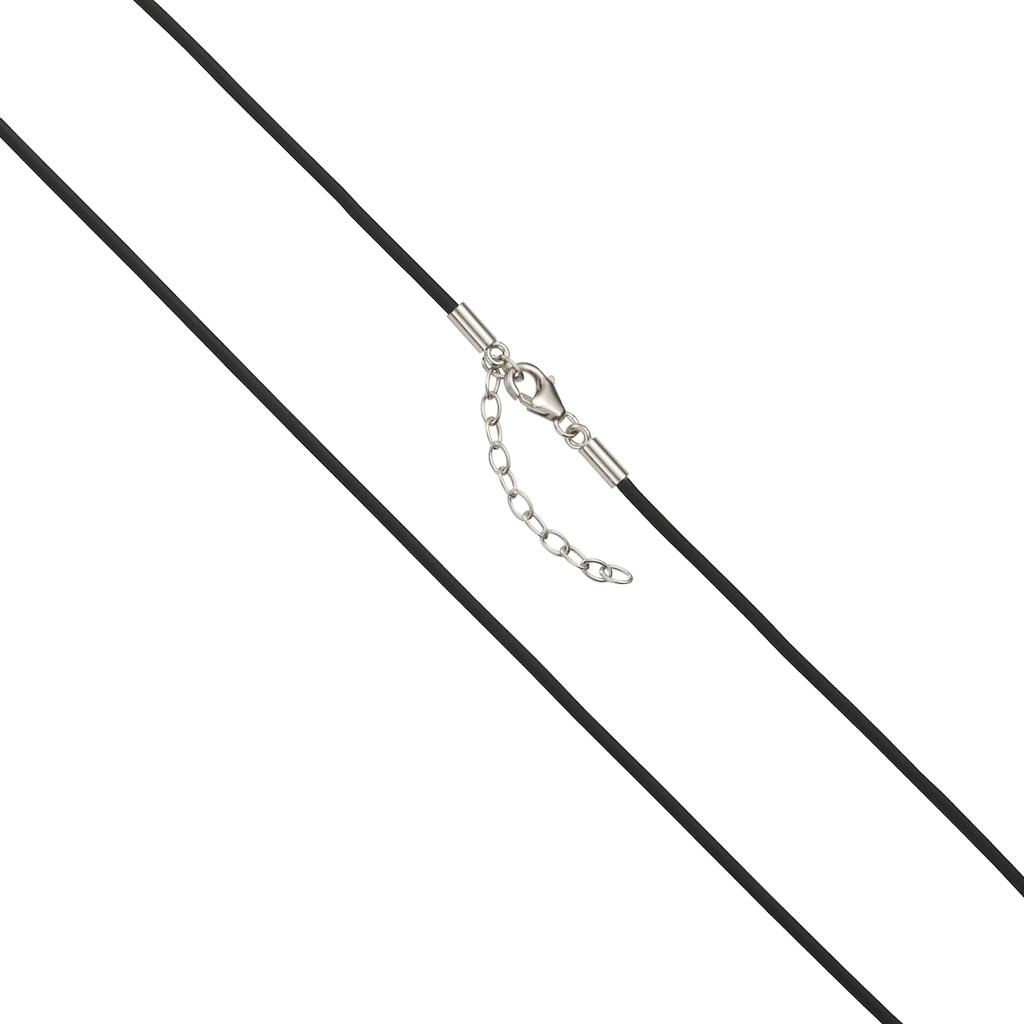 Vivance Collier »925/- Sterling Silber rhod. Kautschuk 42cm«, Collier