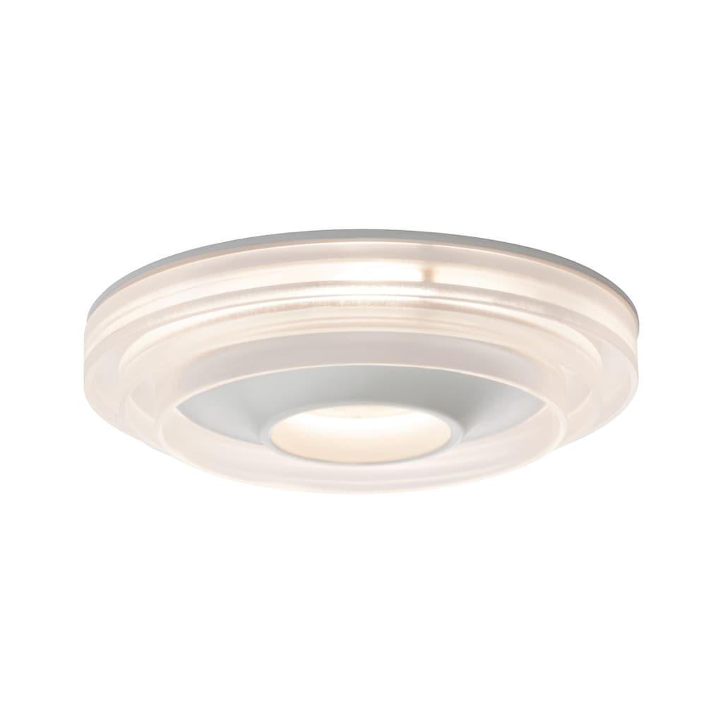 Paulmann LED Einbaustrahler »dimmbar Weiß Drip IP44 8W«, 1 St., Warmweiß