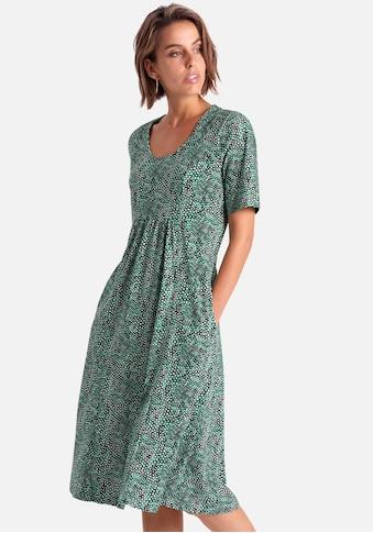 Green Cotton Sommerkleid »mit 1/2-Arm aus Baumwolle«, Raffung kaufen