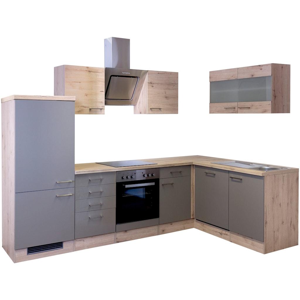 Flex-Well Winkelküche »Riva«, mit E-Geräten, 280 x 170 cm