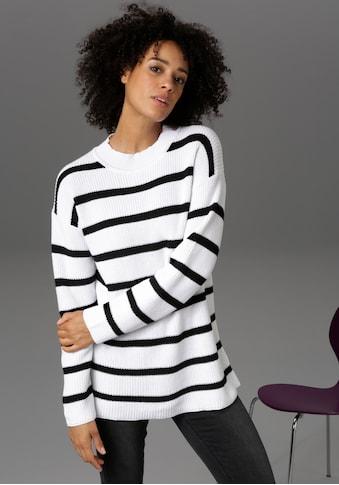 Aniston CASUAL Rundhalspullover, im Streifen-Dessin - NEUE KOLLEKTION kaufen