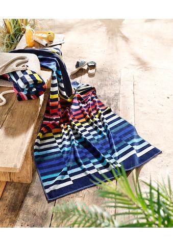 Bruno Banani Strandtuch »Rainbow«, (1 St.), mit farbigen Streifen kaufen