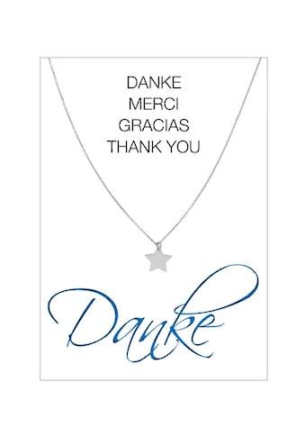 HERZ - KARTE Silberkette »Danke« kaufen