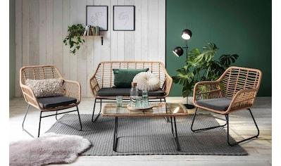 INOSIGN Sitzgruppe »Yaro«, für Indoor, Terrasse, Wintergarten oder Garten geeignet kaufen