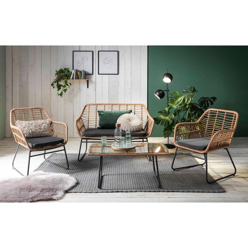 INOSIGN Sitzgruppe »Yaro«, für Indoor, Terrasse, Wintergarten oder Garten geeignet