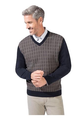 Marco Donati Pullover mit 2 - farbigem Jacquard - Muster im Vorderteil kaufen