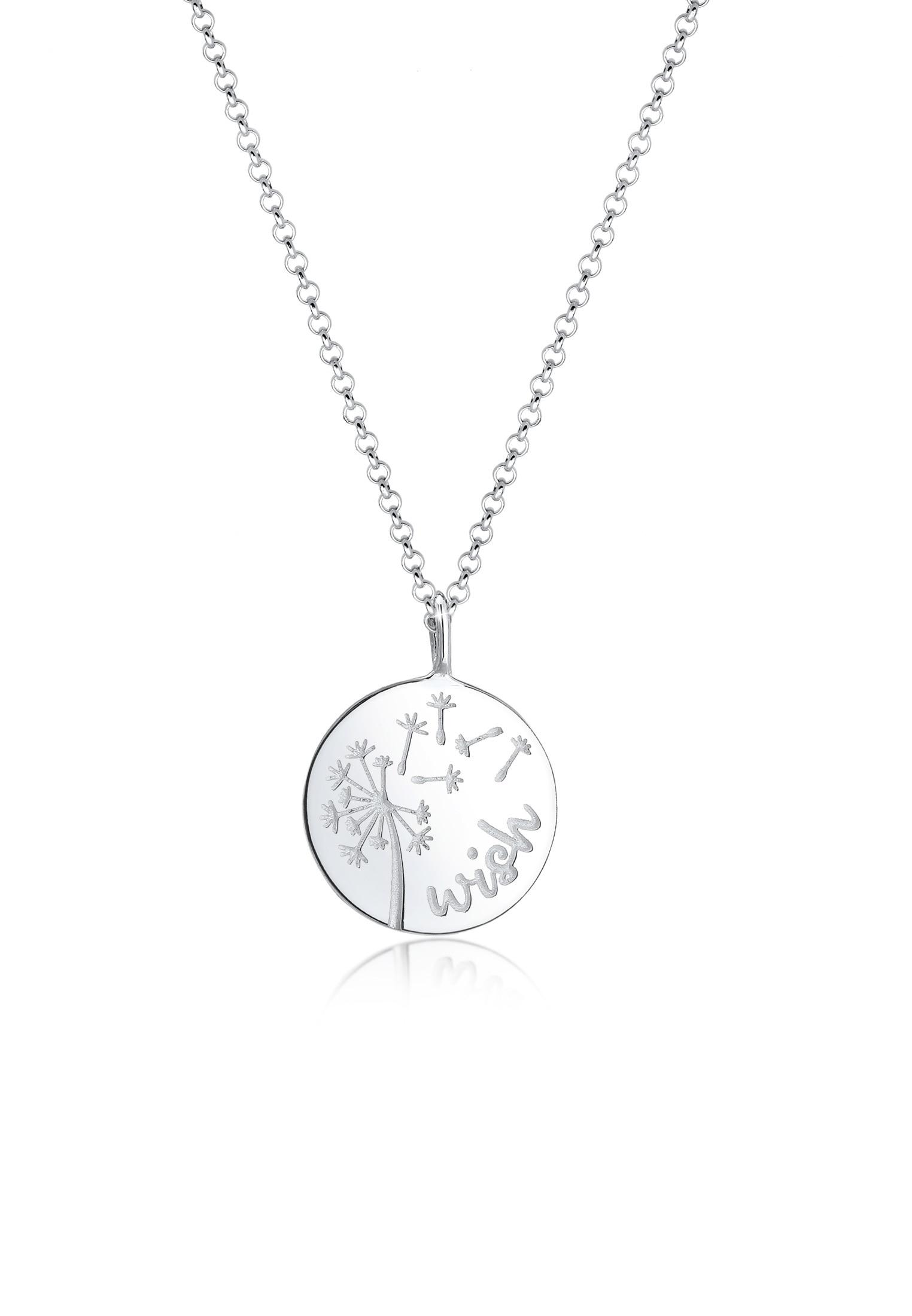 Elli Collierkettchen Erbskette Wish Pusteblume Dandelion 925er Silber   Schmuck > Halsketten > Silberketten   Elli