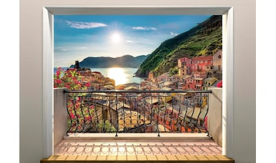 Komar Fototapete »Vernazza«, bedruckt-Meer-Wald, ausgezeichnet lichtbeständig kaufen