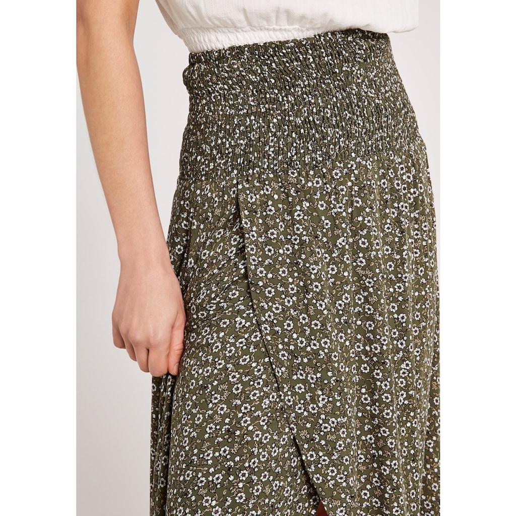 Apricot Maxirock »Ditsy Smock Waist Wrap Skirt«, mit Smokbund