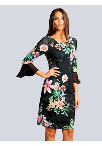 Alba Moda Jerseykleid mit Volants an den Ärmeln kaufen