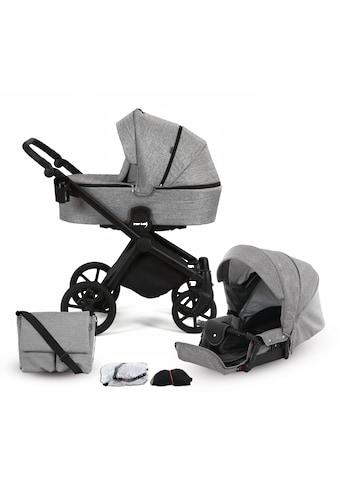 Knorrbaby Kombi-Kinderwagen »Life+ 2.0 Black Edition, Graphit«, 15 kg, Gestell... kaufen
