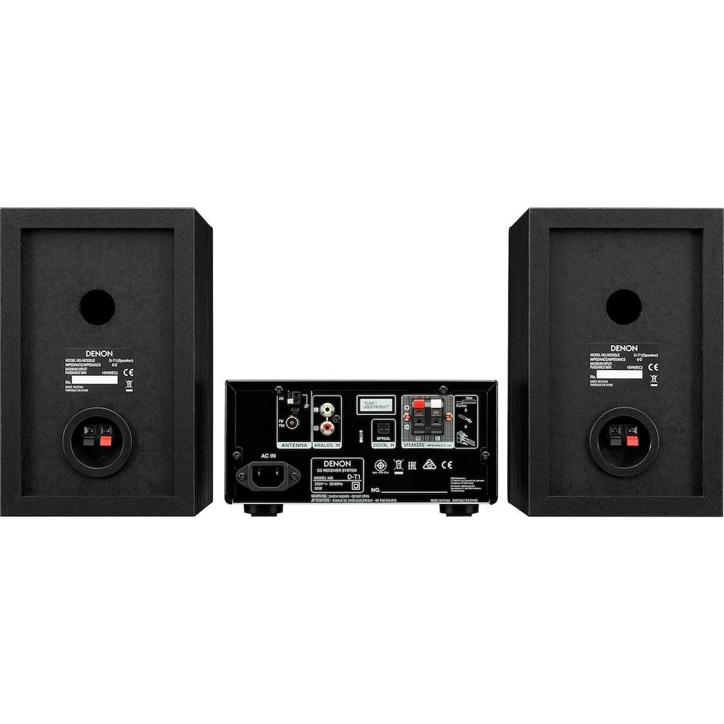 Denon Kompaktanlage »D-T1«, Bluetooth, Display mit Uhranzeige-Sleep-Timer