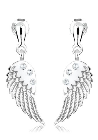 Elli Paar Ohrhänger »Flügel Engel Religion Zirkonia 925 Silber« kaufen