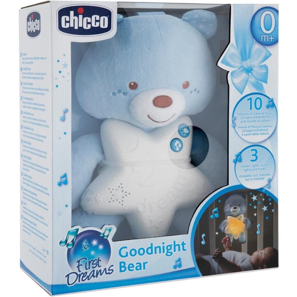 Chicco Kuscheltier »Gute Nacht Bärchen, Blau«, mit Licht und Sound