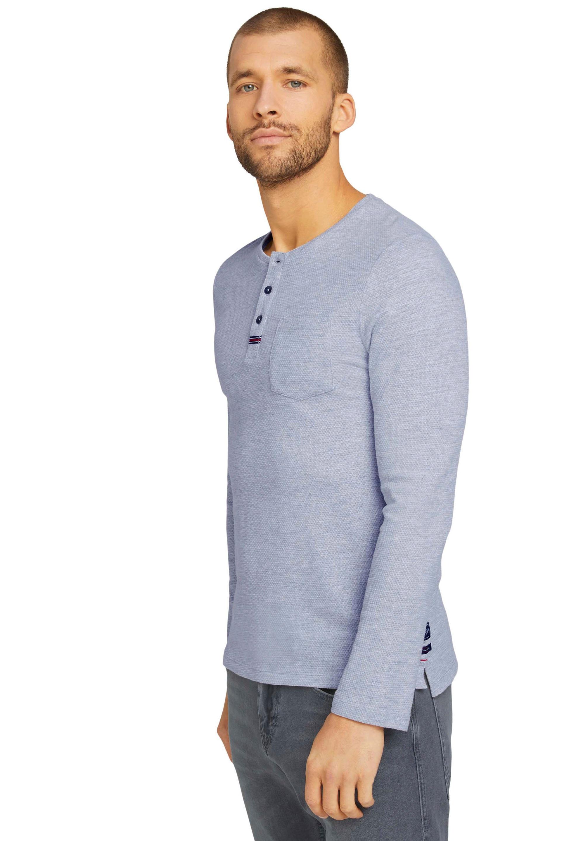 tom tailor -  Langarmshirt, mit Detail an der Knopfleiste