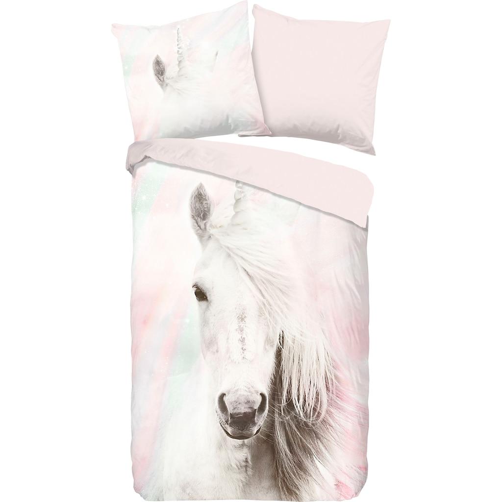 good morning Kinderbettwäsche »Fluffy«, mit Pferd