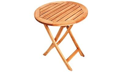 MERXX Gartentisch , Eukalyptus, klappbar, Ø 80 cm, braun kaufen