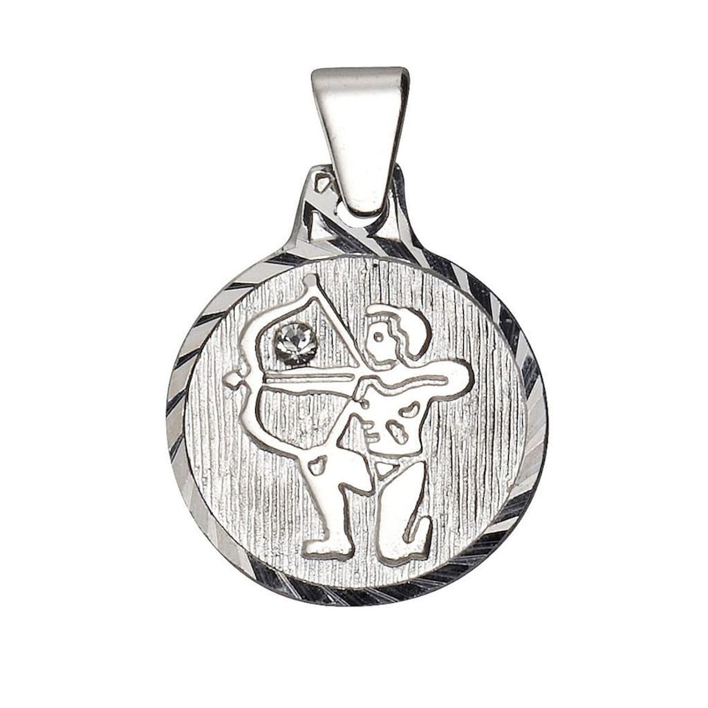 Firetti Sternzeichenanhänger »runde Form, diamantiert«, mit Kristallstein