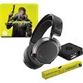 SteelSeries Gaming-Headset »Bundle Arctis Pro Wireless + QcK Large Cyberpunk Edition«