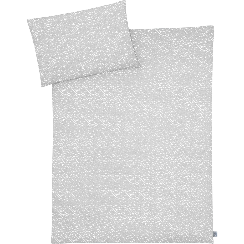 Julius Zöllner Kinderbettwäsche »Tiny Squares Grey«, mit Muster