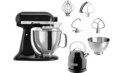 KitchenAid Küchenmaschine »Artisan 5KSM175EOB«, 300 W, 4,8 l Schüssel, mit Gratis... kaufen