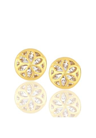 JULES & GENTS Paar Ohrstecker »#blossom Gold«, mit Zirkonia, 925/- Sterlingsilber vergoldet kaufen