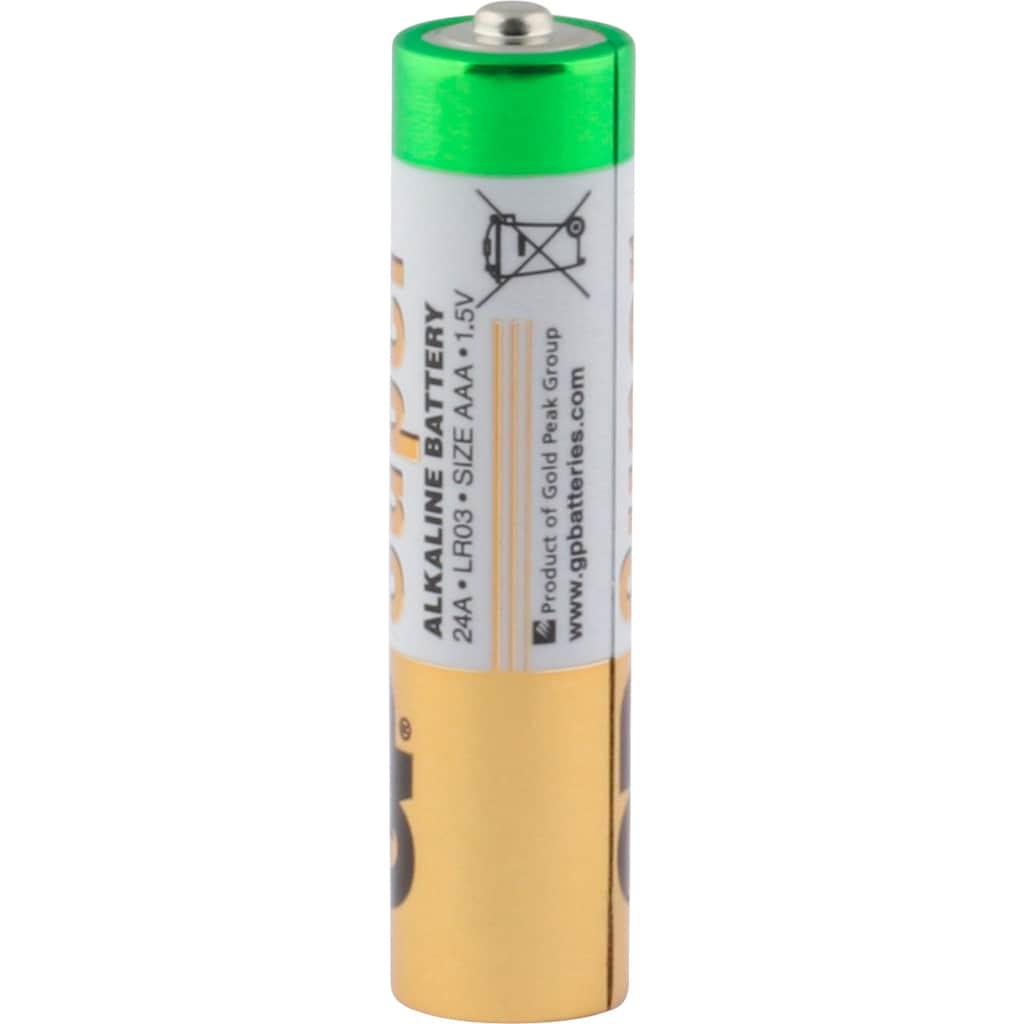 GP Batteries Batterie »Super Alkaline 1,5V AAA + AA Batterie 12 Stück & 32 Stück«, 1,5 V, (Set)
