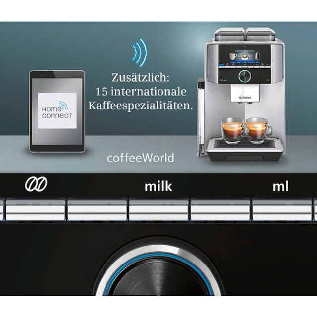 SIEMENS Kaffeevollautomat EQ.9 plus connect s500 TI9558X1DE, 2,3l Tank, Scheibenmahlwerk