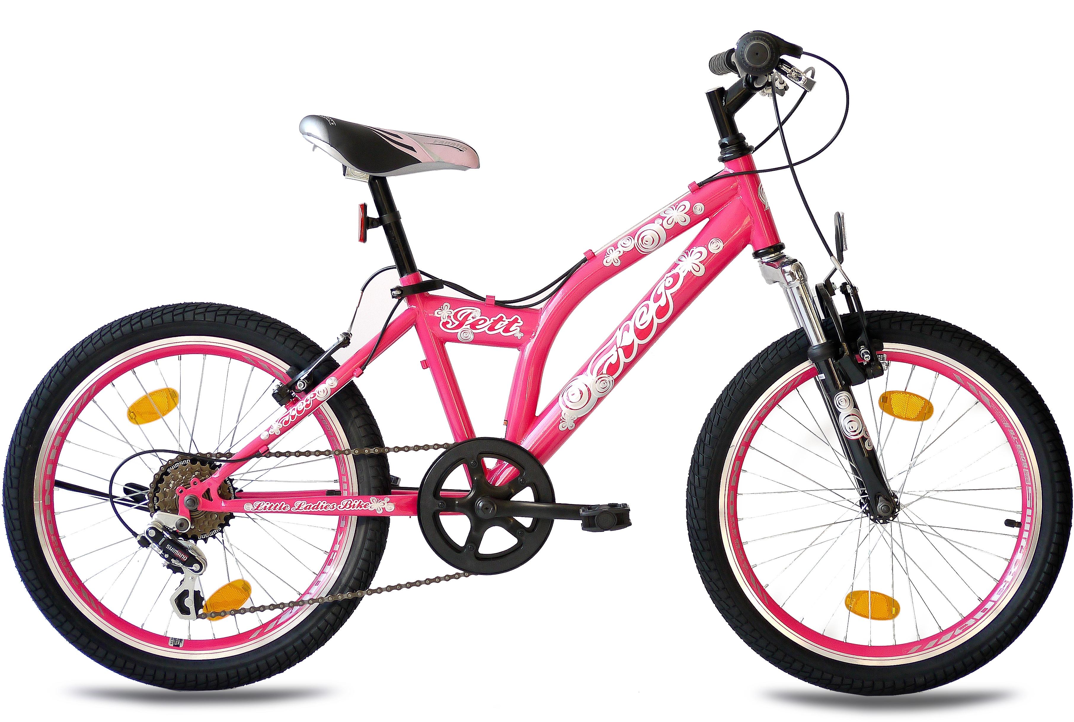 KCP Kinderfahrrad Jett SF, 6 Gang, Shimano, Tourney RD-TZ500-GS Schaltwerk, Kettenschaltung rosa Kinder Kinderfahrräder Fahrräder Zubehör