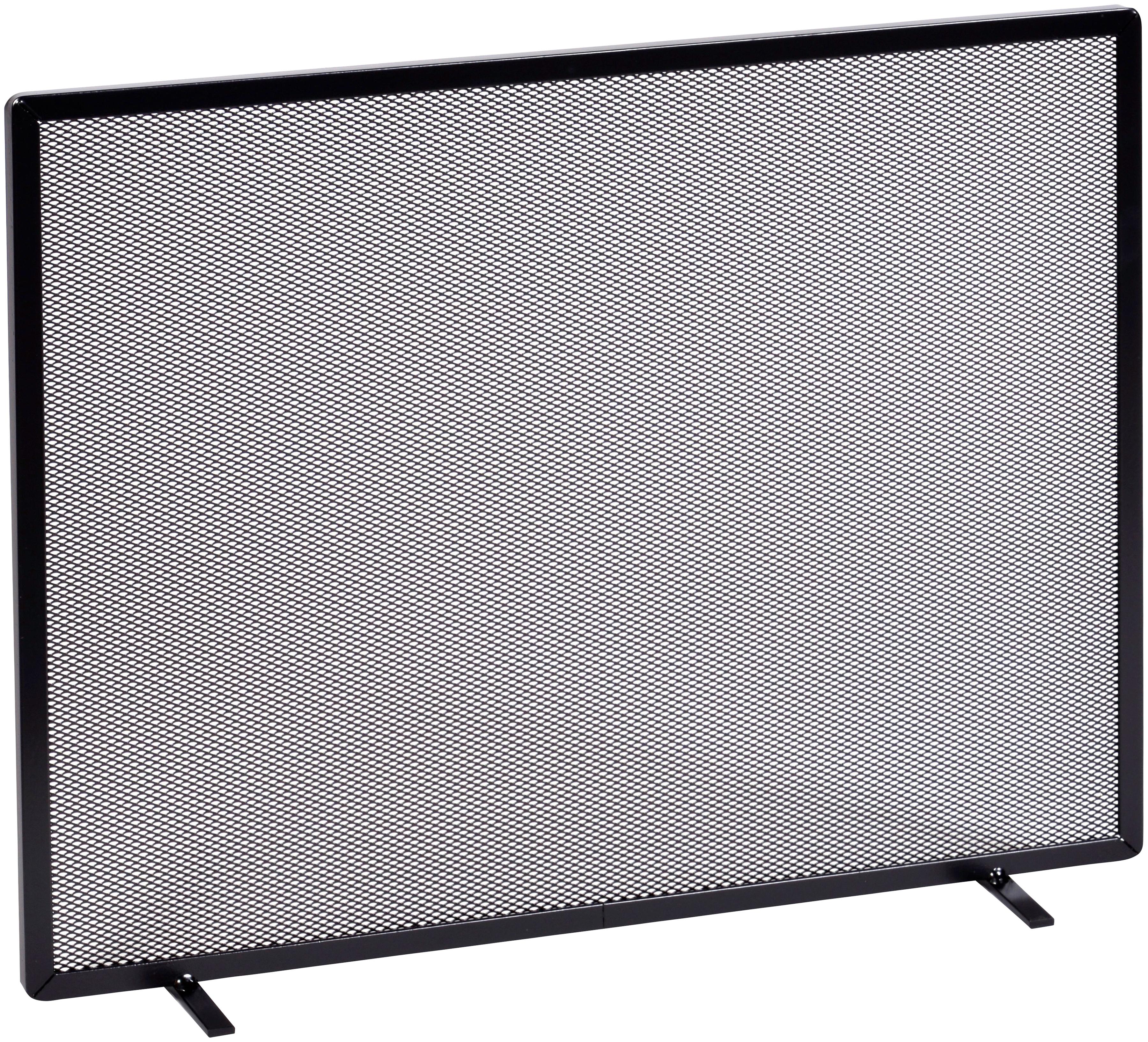 Firefix Funkenschutzgitter, mit Gittergeflecht, 65 x 52 cm schwarz Funkenschutzgitter Kamin Öfenzubehör Heizen Klima
