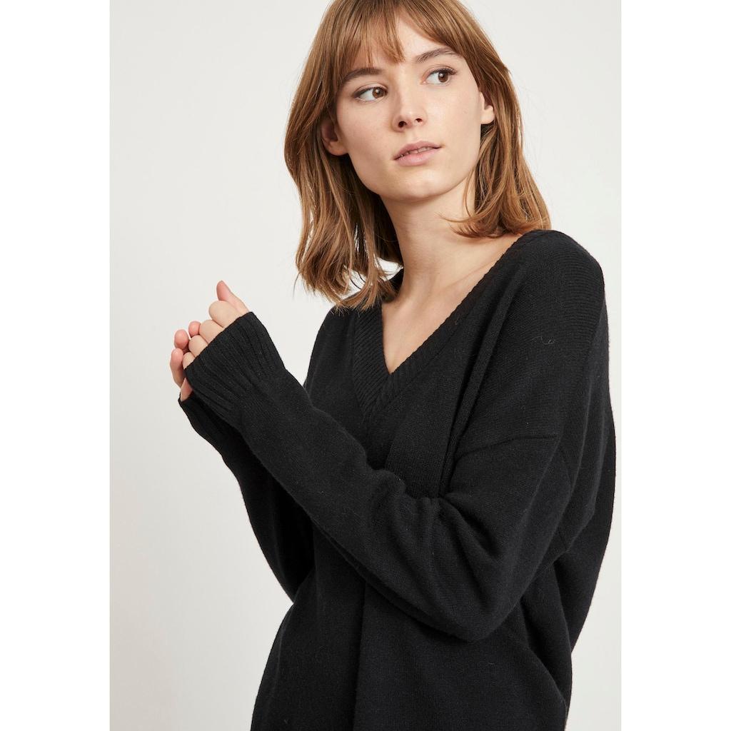 Vila V-Ausschnitt-Pullover »VIRIL OVERSIZE«, in pflegeleichter Qualität