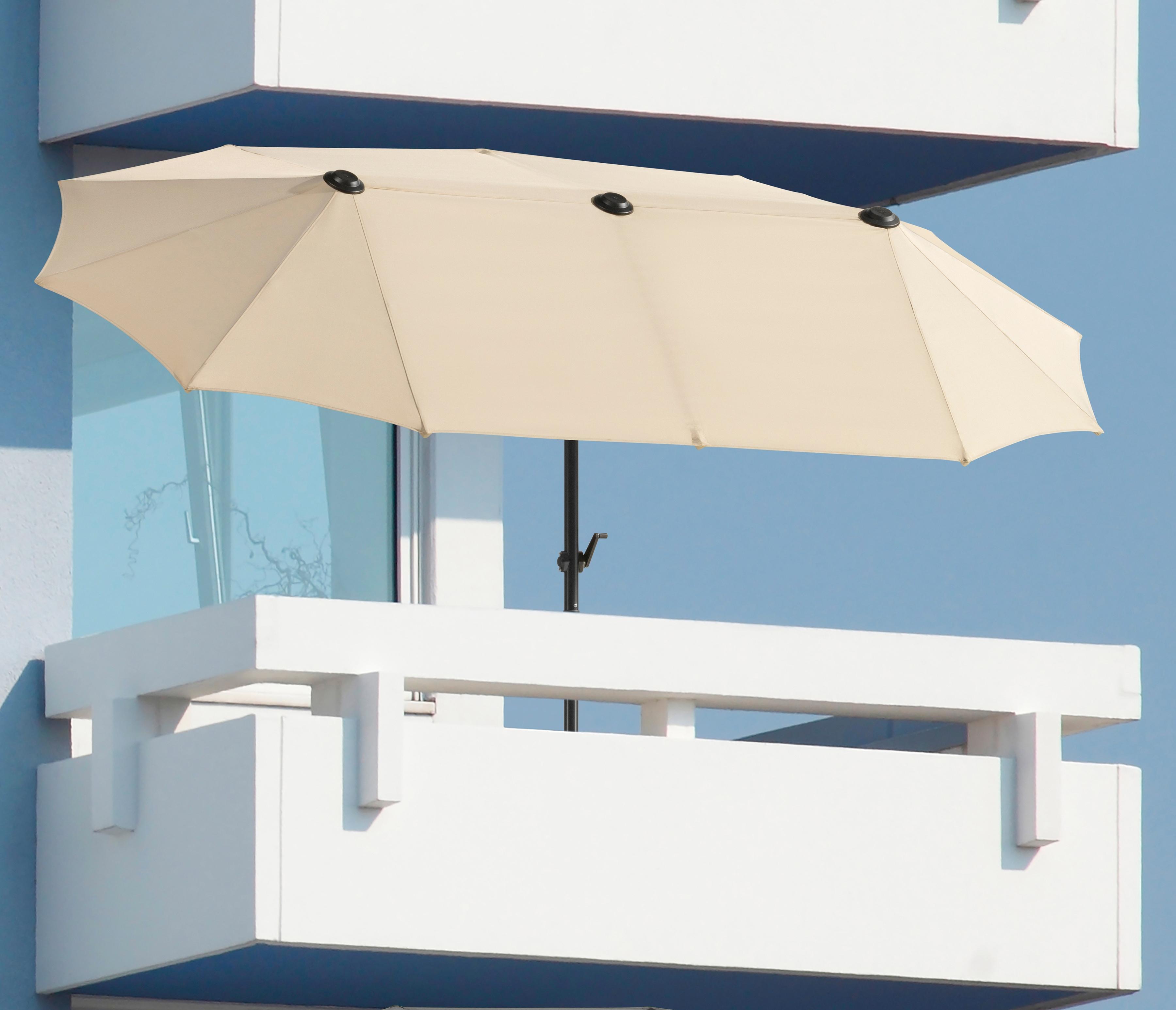 Schneider Schirme Balkonschirm Salerno, Inkl. Schutzhülle, ohne Schirmständer braun Sonnenschirme -segel Garten, Terrasse Balkon