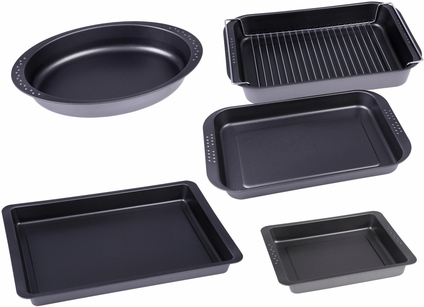 CHG Backform, (6 St.) schwarz Backform Backformen Backbleche Kochen Backen Haushaltswaren