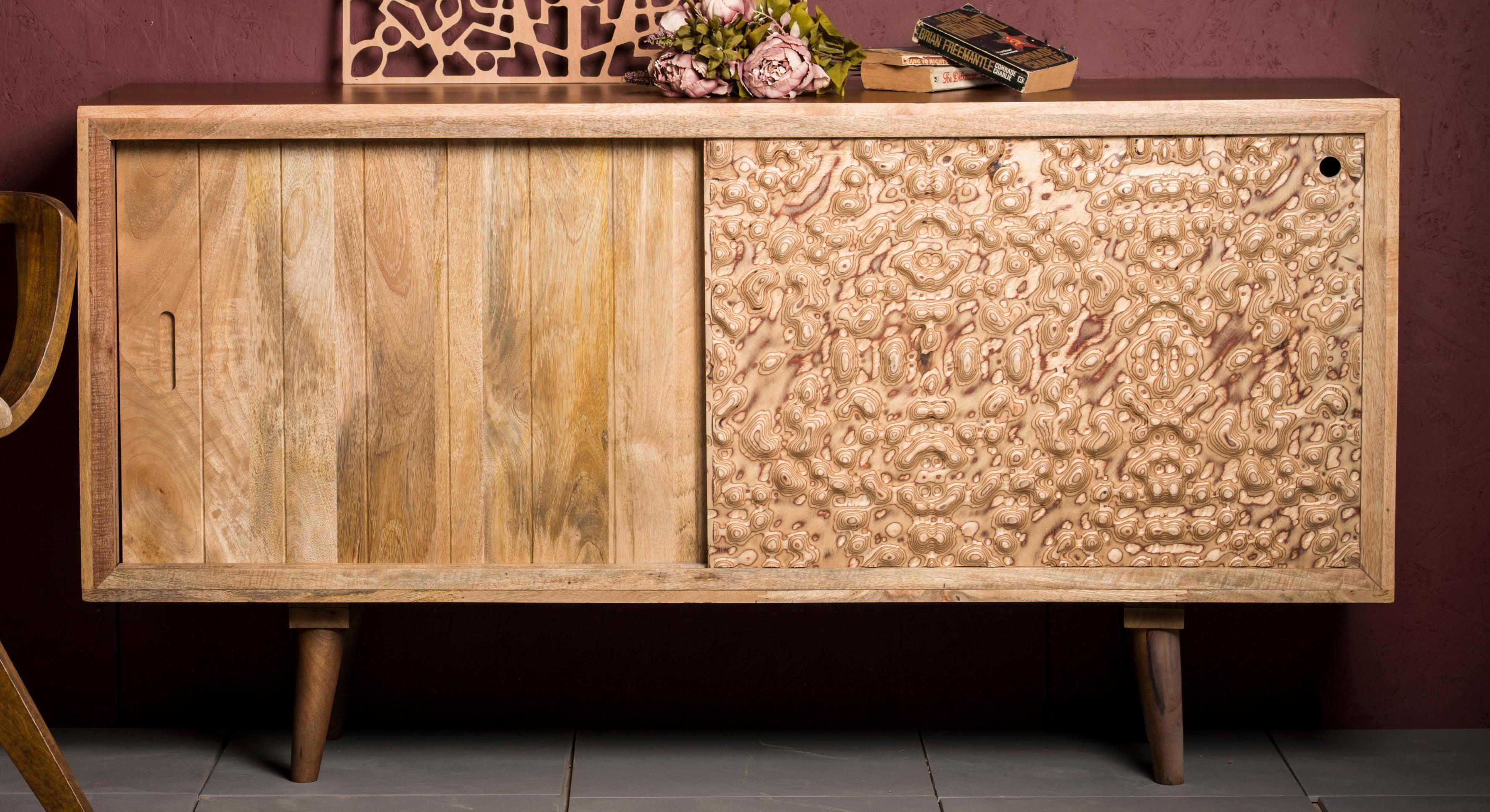 Home Affaire Sideboard Tyrion aus massivem Mangoholz Breite 160 cm