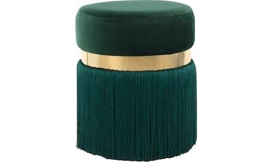 Kayoom Sitzhocker »Rebecca 925«, mit attraktiven Fransen kaufen