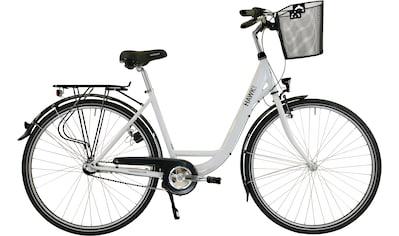 HAWK Bikes Cityrad »HAWK City Wave Premium Plus White«, 3 Gang, Shimano, Nexus Schaltwerk kaufen