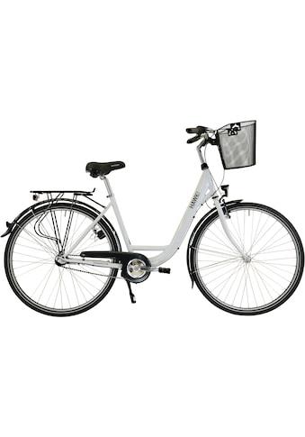 HAWK Bikes Cityrad »HAWK City Wave Premium Plus White«, 3 Gang Shimano Nexus Schaltwerk kaufen