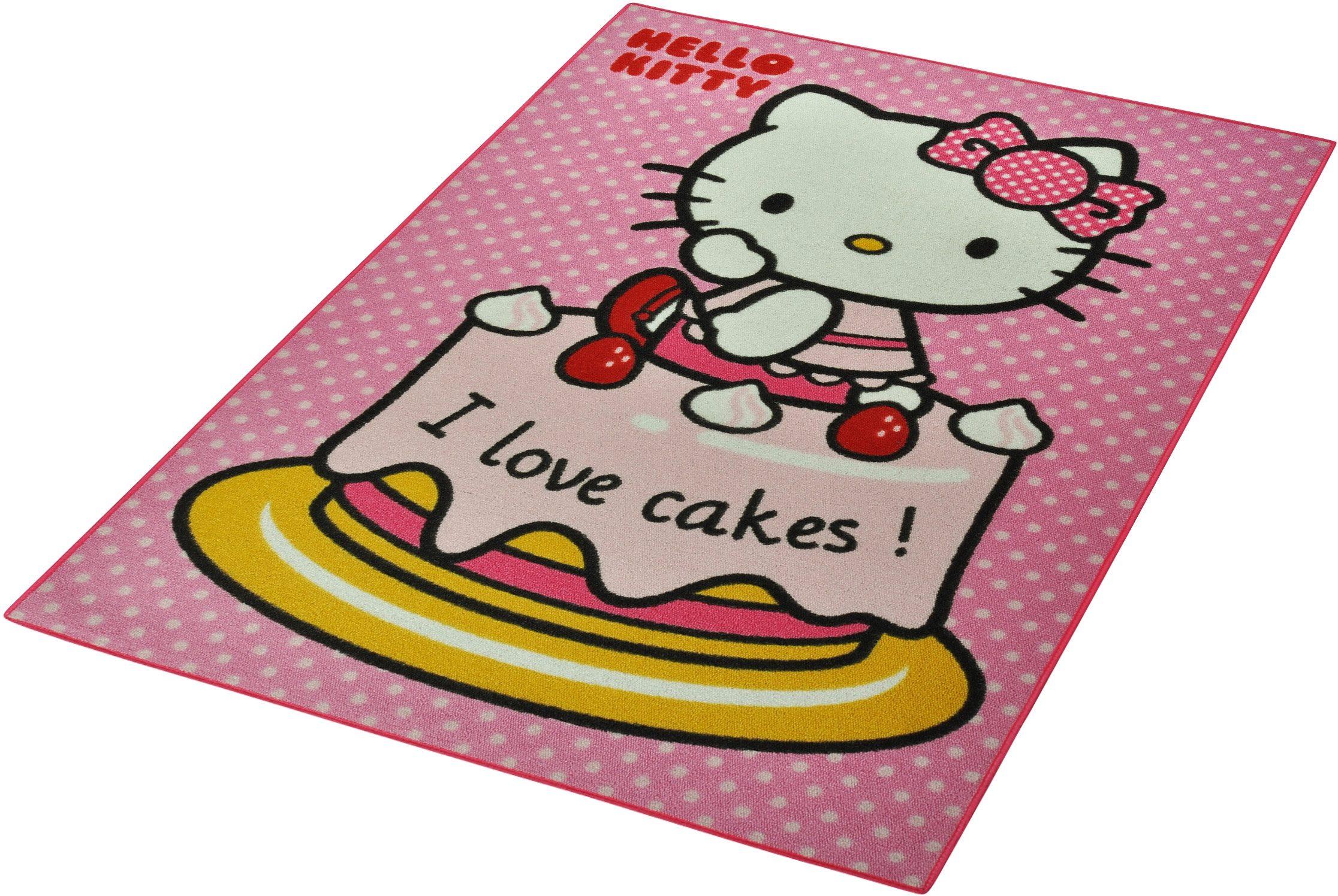 Kinderteppich, »Hello Kitty - Cake«, Hello Kitty, rechteckig, Höhe 7 mm