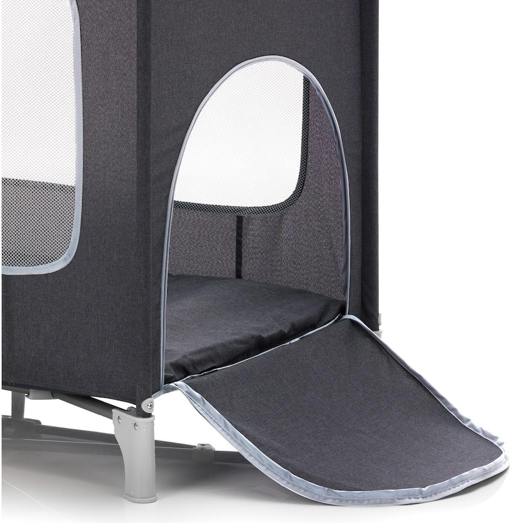 Fillikid Baby-Reisebett »Reisebett mit Komfortmatratze, dunkelgrau melange«, inkl. Transporttasche