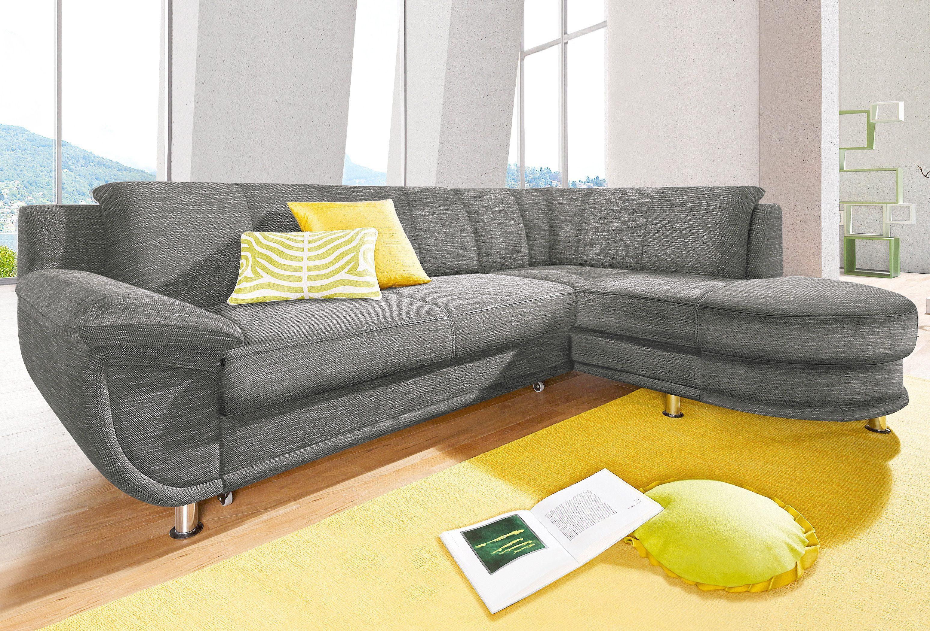 Ecksofa | Wohnzimmer > Sofas & Couches > Ecksofas & Eckcouches | Grau | Strukturstoff - Kunstleder