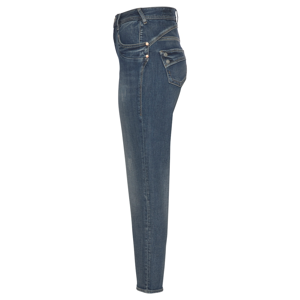 Herrlicher High-waist-Jeans »PIPER HI CONIC Recycled Denim«, Fit: Tapered