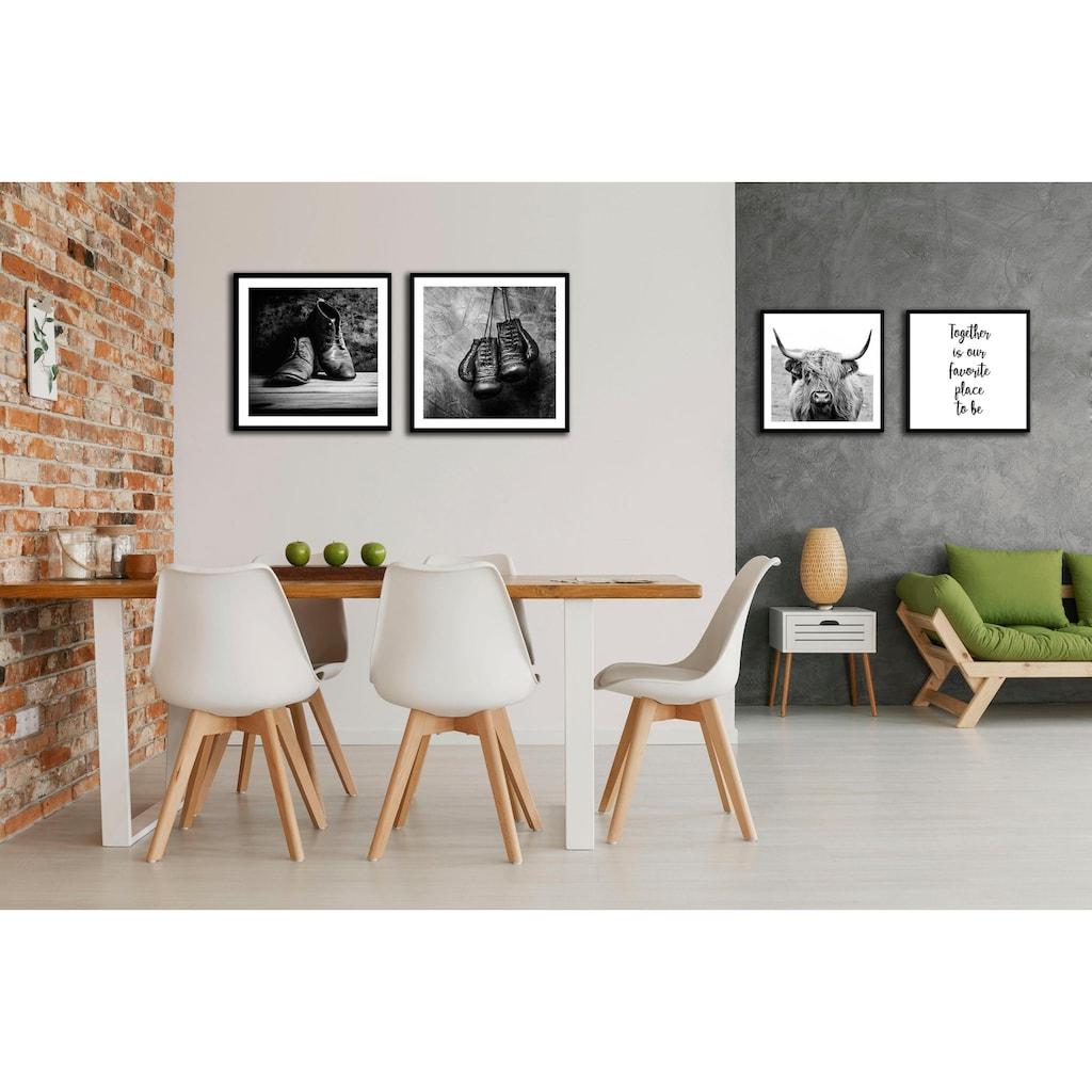 Spiegelprofi GmbH Bild »Schuhe«, mit Rahmen