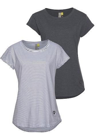 Alife & Kickin Rundhalsshirt »MimmyAK 2P«, modische Basic-Shirts im Doppelpack kaufen