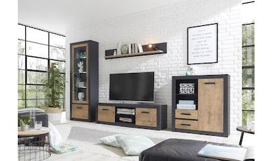 my home Wohnwand »Brügge«, (Set, 4 St.), Mit einer dekorativen Rahmenoptik kaufen