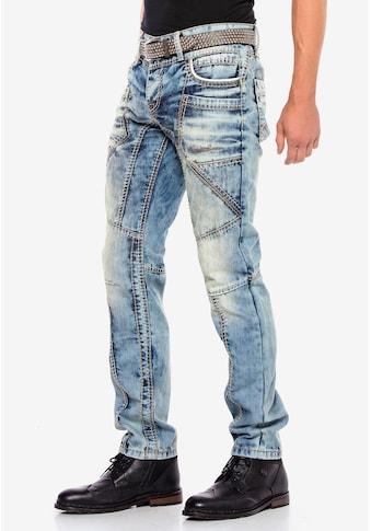 Cipo & Baxx Bequeme Jeans, mit modernen Ziernähten kaufen