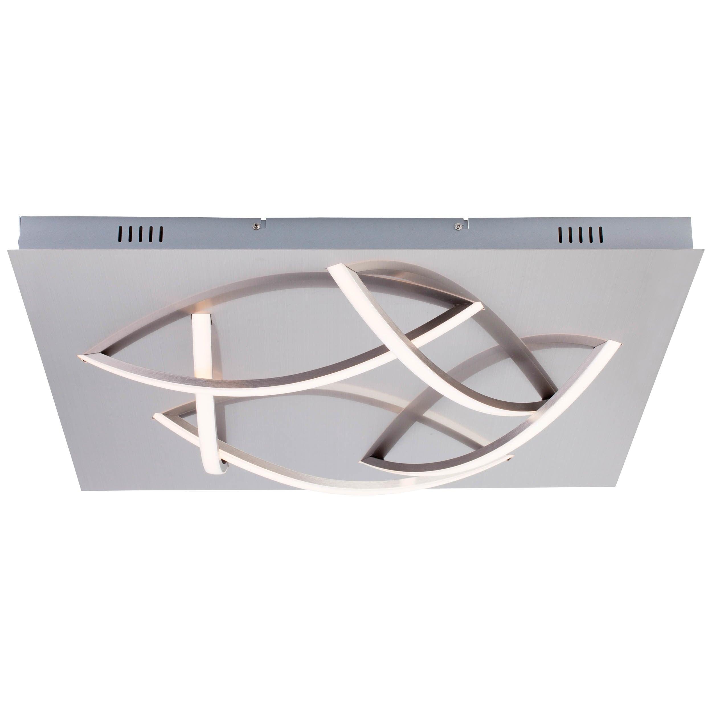 Brilliant Leuchten Stanly LED Wand- und Deckenleuchte 5flg nickel
