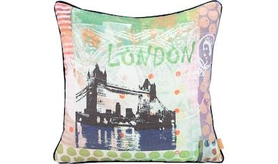 H.O.C.K. Dekokissen »Lieblingsstädte LONDON«, mit London-Motiv kaufen