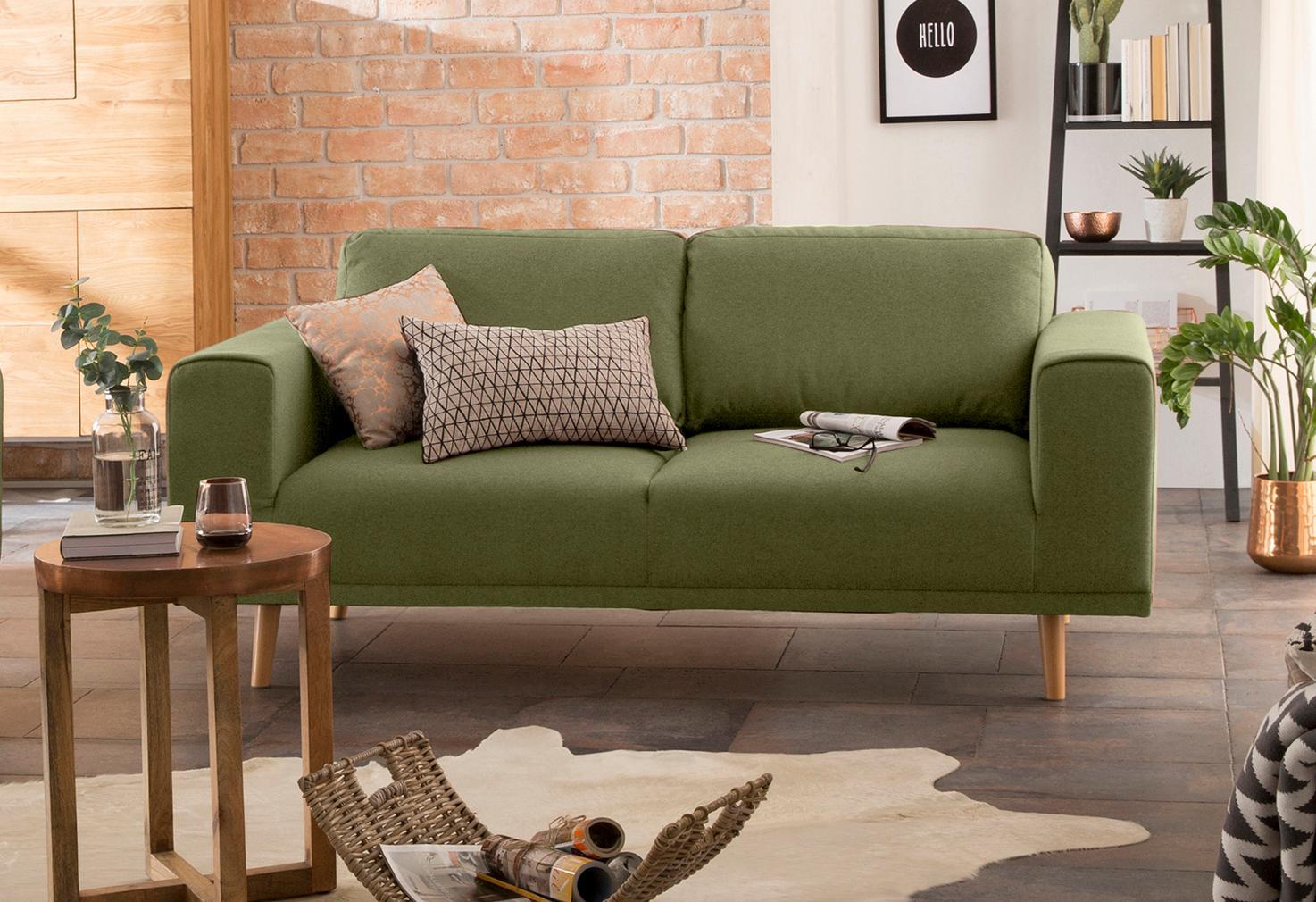 Home affaire 2-Sitzer »Lasse« im scandinavischem Stil mit Holzfüßen