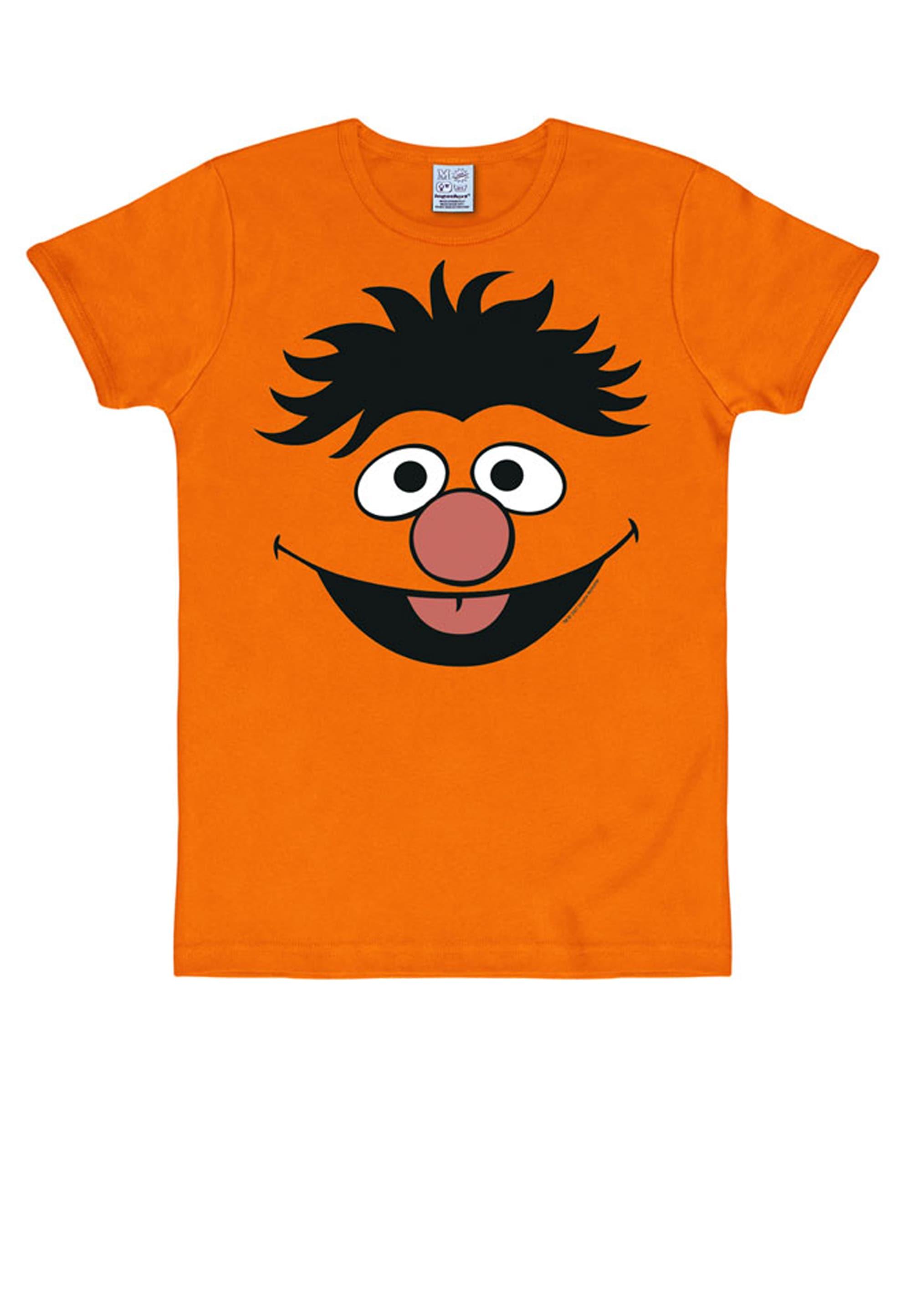 LOGOSHIRT T-Shirt mit witzigem Motiv Ernie Herrenmode/Große Größen/Shirts