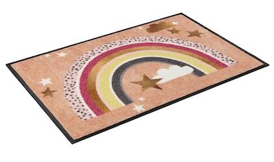 wash+dry by Kleen-Tex Fußmatte »Rainbow Glamour«, rechteckig, 7 mm Höhe, Fussabstreifer, Fussabtreter, Schmutzfangläufer, Schmutzfangmatte, Schmutzfangteppich, Schmutzmatte, Türmatte, Türvorleger, In- und Outdoor geeignet, waschbar kaufen